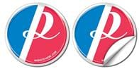 Removable Circle Bumper Sticker / Decal - Vinyl UV Coated - 3.875 Inch Diameter